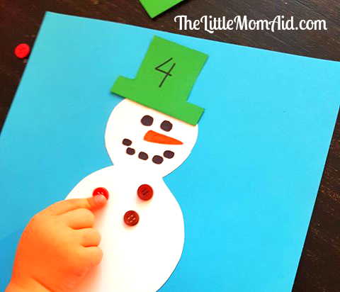 Math Snowman Counting Activity