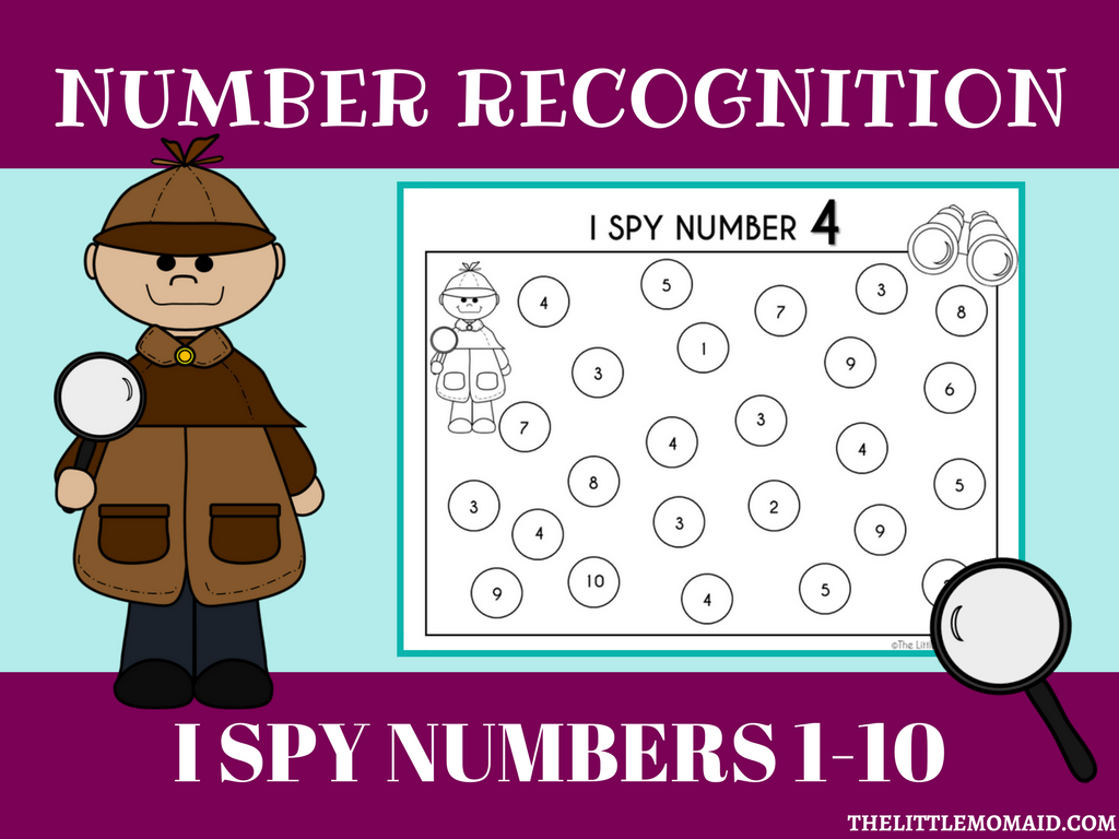 FREEBIE I SPY NUMBER 1-10 WORKSHEETS