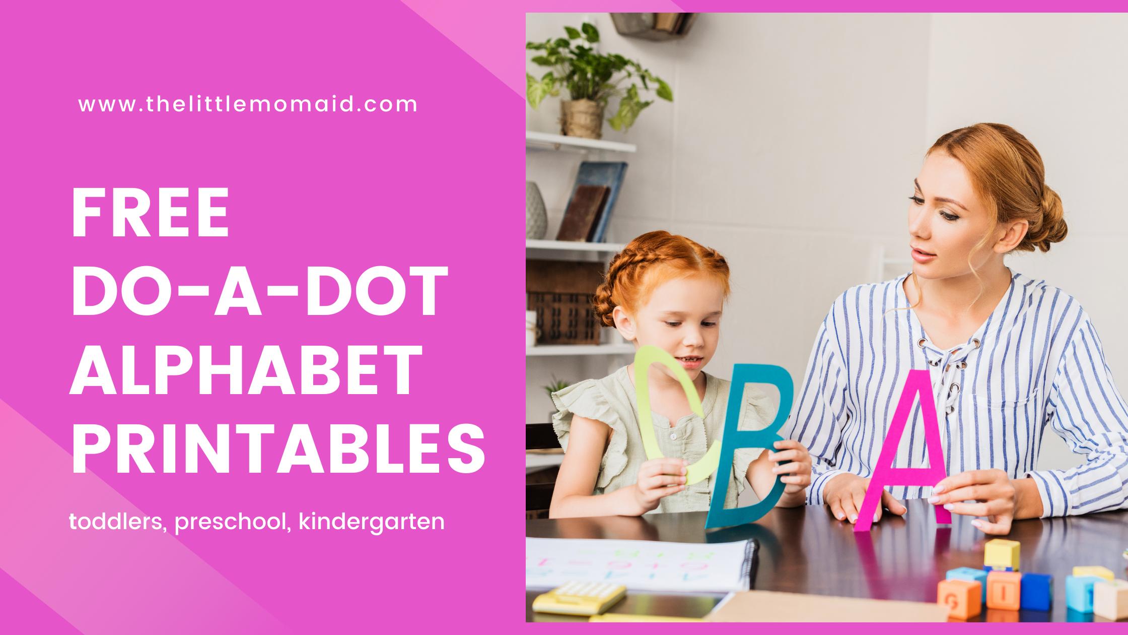 free do-a-dot letter worksheets