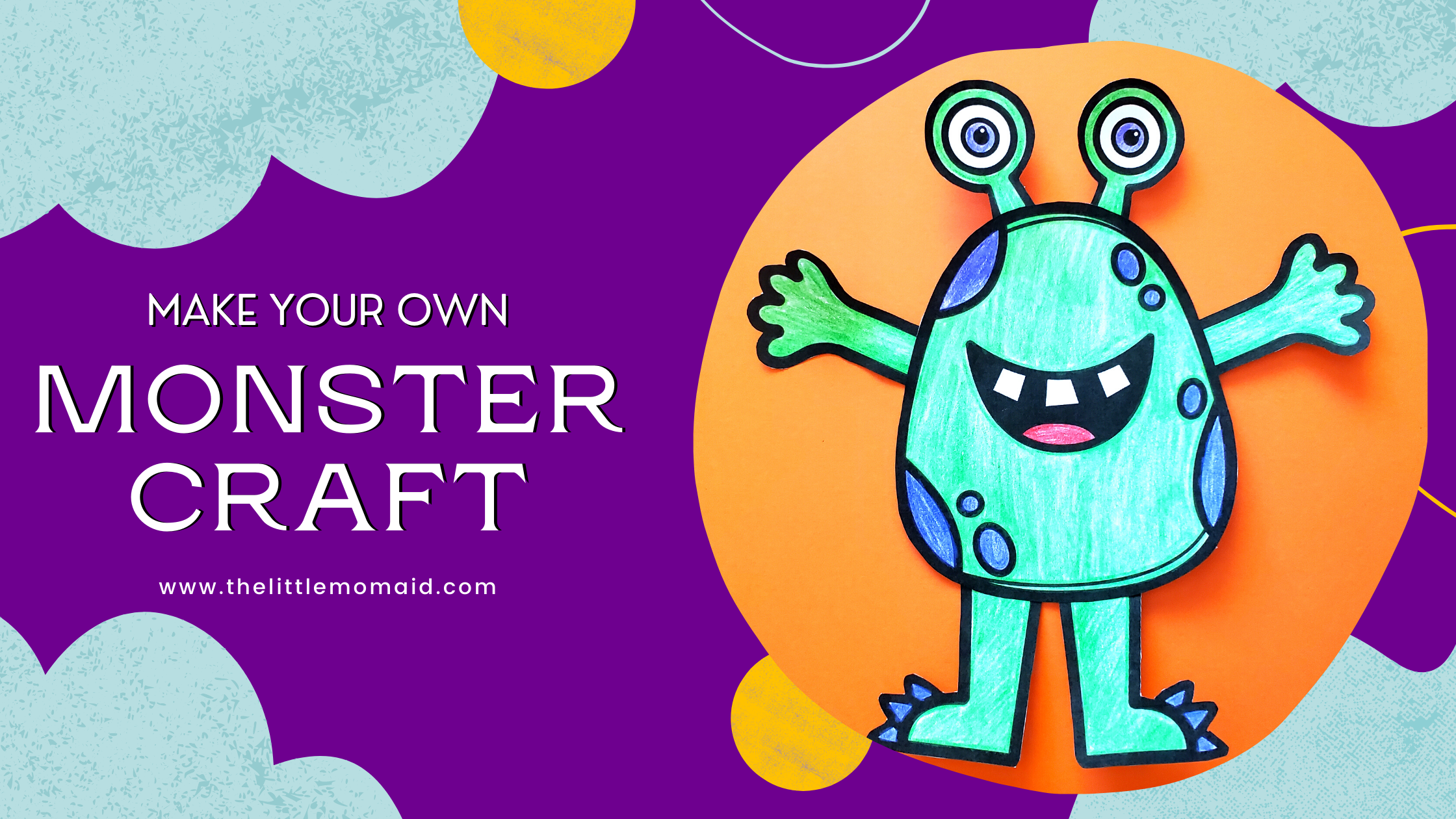 This build-a-monster activity is a fun craft for kids. They will have a blast being creative, working on cutting skills, and fine motor skills.